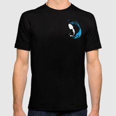 Oh Whale! | Animals LARGE Mens Fitted Tee Black
