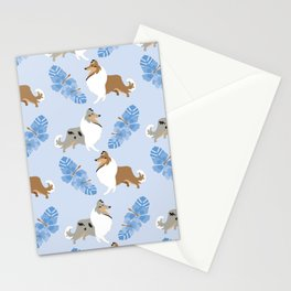 Collie Dog Luau Stationery Cards