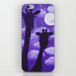 Giraffes at Nightfall iPhone Skin