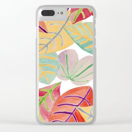 Colored leaves Clear iPhone Case