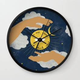 We Are What We Think About Wall Clock