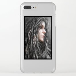 Feathers in Her Hair Clear iPhone Case