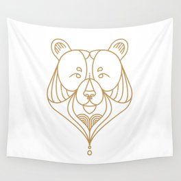 Gold Bear One Wall Tapestry