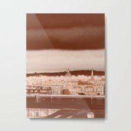 Dublin, Ireland skyline photography art print - sepia tones brooding beauty cityscape Metal Print