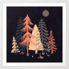 A Spot in the Wood... Art Print