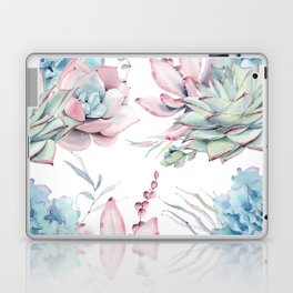 Pretty Pastel Succulents Garden 1 Laptop & iPad Skin