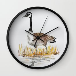 Bernache du Canada (Canada Goose) Wall Clock