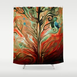 Surreal tree Shower Curtain