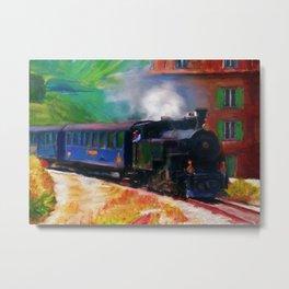 Train Painting Impressionism Artwork Travel Transportation Metal Print