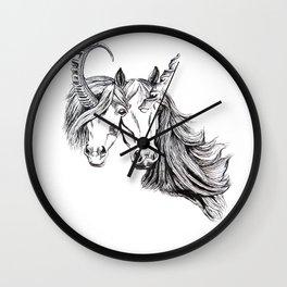 Conjoined Unicorns Wall Clock