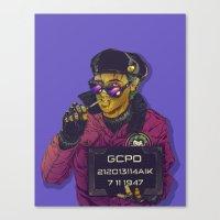 boneface Canvas Prints featuring Joker Goon by boneface