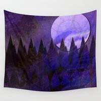 silent Wall Tapestries featuring Silent Forest by mimulux