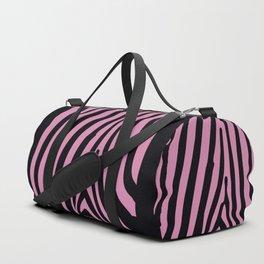Wild Pink Love on Black Duffle Bag