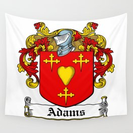Family Crest - Adams - Coat of Arms Wall Tapestry