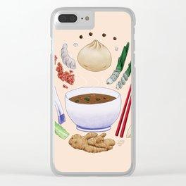 Dumpling Diagram Clear iPhone Case