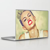 miley cyrus Laptop & iPad Skins featuring Miley Cyrus by Nicolaine
