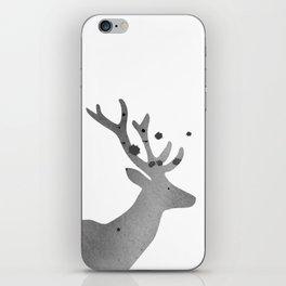 Deer. Watercolor illustration on white. iPhone Skin