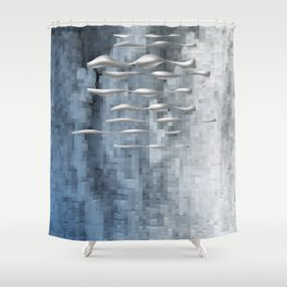 Space Floaters #Society6 #buyart #decor Shower Curtain