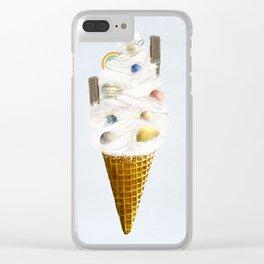 galaxy cone Clear iPhone Case