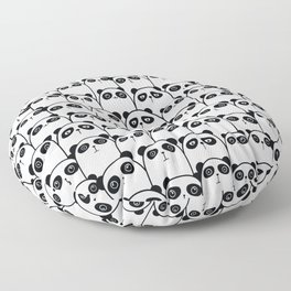 Pristine Panda Party Pattern Floor Pillow