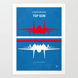 No128 My TOP GUN Art Print