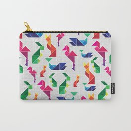 Rainbow Tangram Geomtric Animals Carry-All Pouch