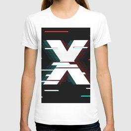 X futuristic poster T-shirt