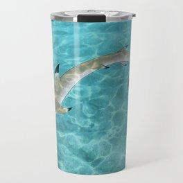 Blacktip Reef Shark Man Travel Mug