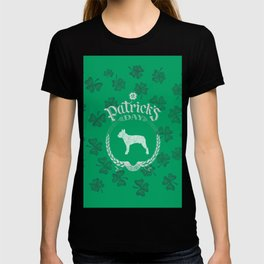 St. Patrick's Day Boston Terrier Funny Gifts for Dog Lovers T-shirt