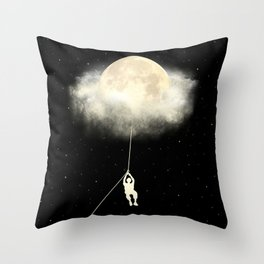 Omega Moon Jump Throw Pillow