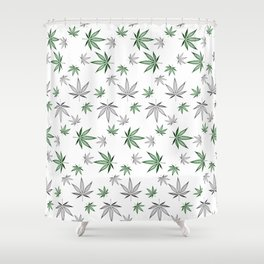 Weed Illustrated Shower Curtain
