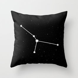 Cancer Star Sign Night Sky Throw Pillow