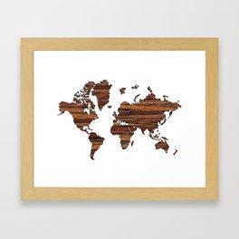 World Map 2 Framed Art Print
