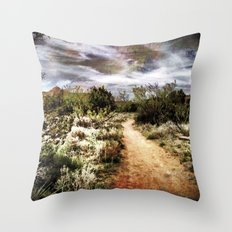 Down the Beaten Path Throw Pillow