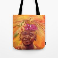 spice Tote Bags featuring Spice Kid by The Art of Vancuf