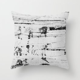 Distressed Grunge 102 in B&W INVERSE Throw Pillow