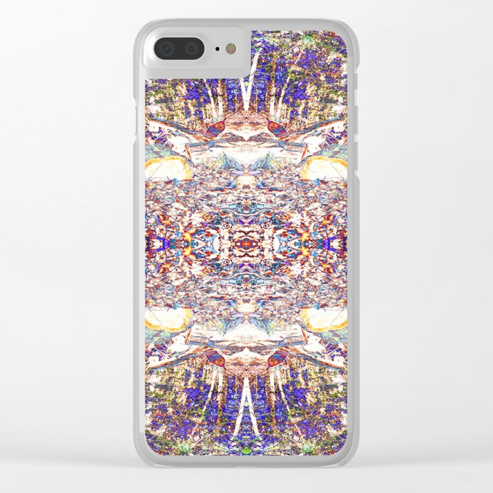 Purple Diversion Clear iPhone Case