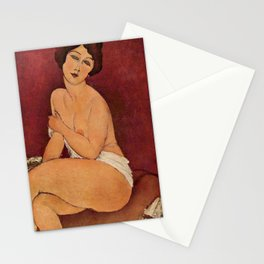 Amedeo Modigliani - Nude Sitting on a Divan Stationery Cards