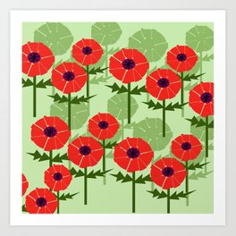 Poppies Contempo Art Print