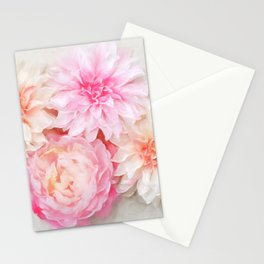 pastel peonies Stationery Cards