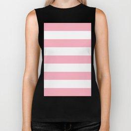 Light Pink Stripes   Digital Design   Pattern Biker Tank