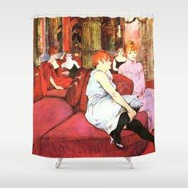 """Henri de Toulouse-Lautrec """"Au Salon de la rue des Moulins"""" Shower Curtain"""
