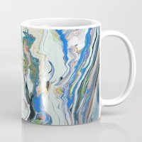 geology Mugs featuring Fluctuating Geology by Christina Stavers