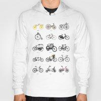 bicycles Hoodies featuring Bicycles by MuDesignbyMugeBaris