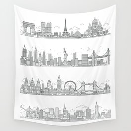 Skylines Wall Tapestry