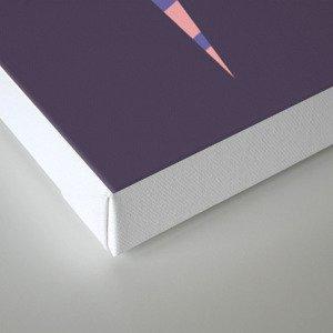 Letter N // Animal Alphabet // Narwhal Monogram Canvas Print