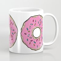 doughnut Mugs featuring Doughnut by Sara Eshak