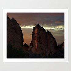 Sunrise at Garden of the Gods Art Print