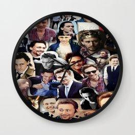 Tom Hiddleston Collage Wall Clock