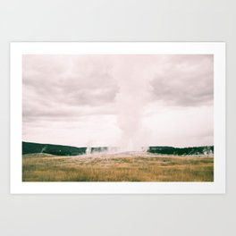 The Legendary Old Faithful  Art Print